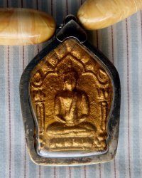 Buddha Amulet Necklace - Replica of Antique Indian Necklace