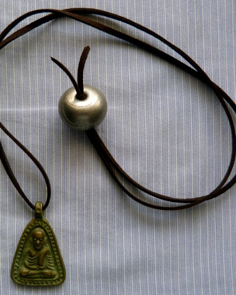 Thai Brass Amulet Necklace