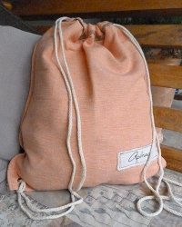 Colombo Drawstring Sack - Peach