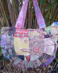 Batik Patchwork Moon Spoon Bag 1