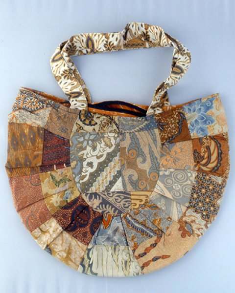 Batik Patchwork Moon Spoon Bag 2