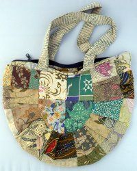 Batik Patchwork Moon Spoon Bag 3