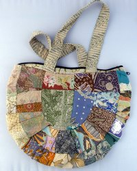 Batik Patchwork Moon Spoon Bag 4