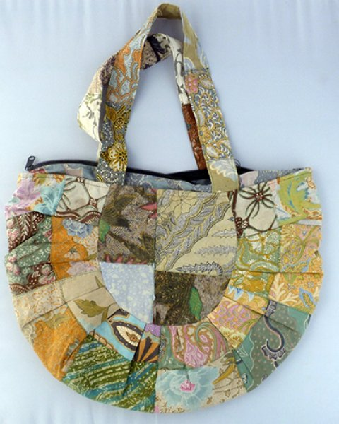 Batik Patchwork Moon Spoon Bag 5