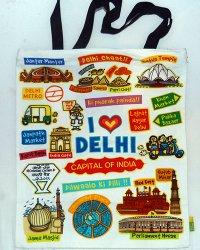 I Luv Delhi Shoulder Bag 100% Recycled