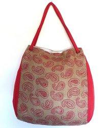 Seminyak Hessian Shoulder Bag Red