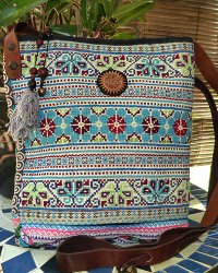 Hmong Embroidered Shoulder Bag 1
