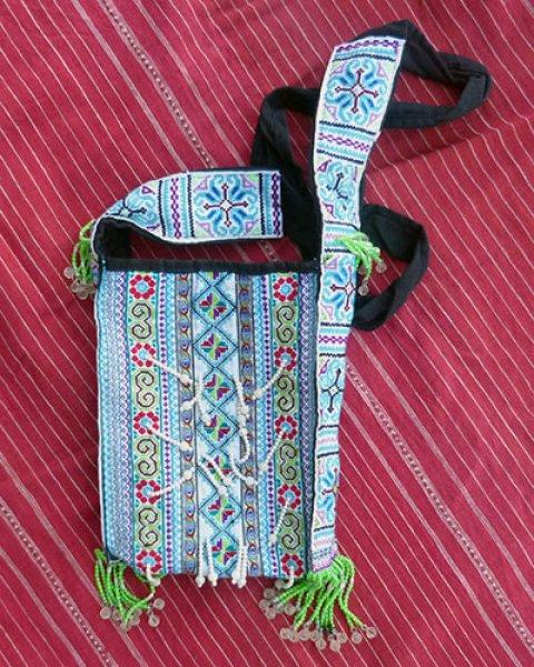 Hmong Embroidered Shoulder Bag 4