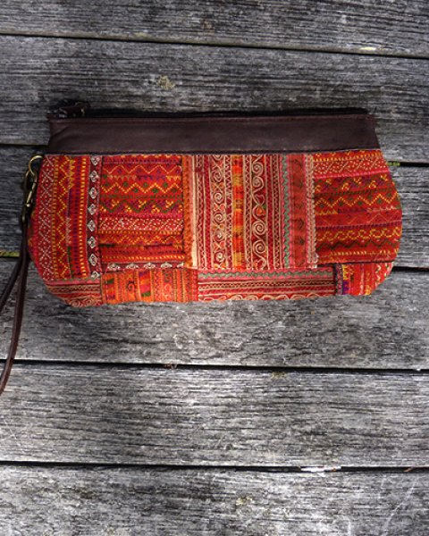 Hmong Leather Top Purse 3