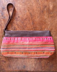 Hmong Leather Top Purse 5