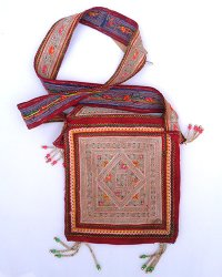 Hmong Shoulder Bag with flap