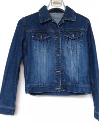 Denim Jacket Antique Indian Tribal Embroidery