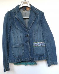 Denim Jacket Thai Hill Tribe Embroidery m-o-t-o brand