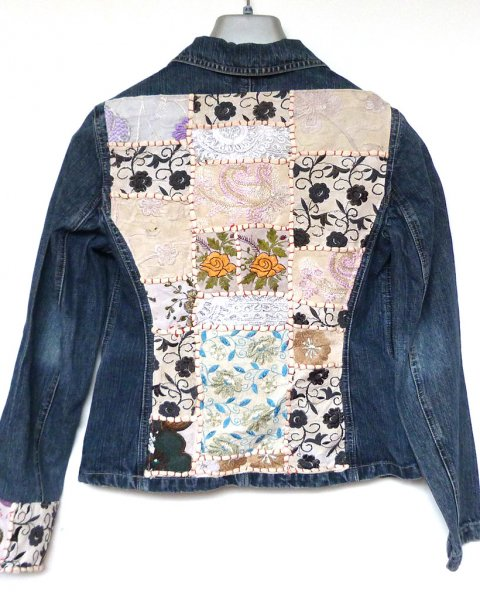 Denim Jacket size 38 Contemporary Indian Embroidery