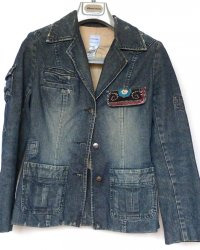 Denim Jacket Sass & Bide size 8 Contemporary Indian Embroidery
