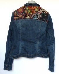 Denim Jacket size 14 Contemporary Indian Embroidery