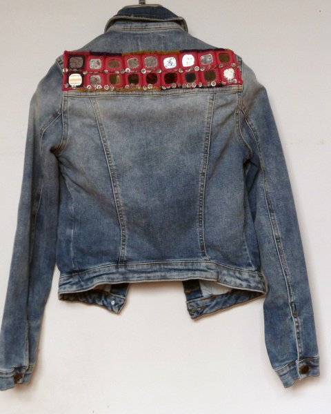 Denim Jacket Zara brand size S Indian Tribal Embroidery