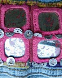 Denim Jacket Zara brand size S Indian Tribal Embroidery