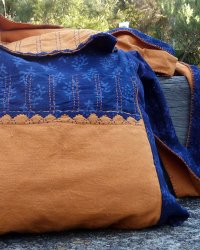 Udaipur Orange/Blue Shoulder Bag