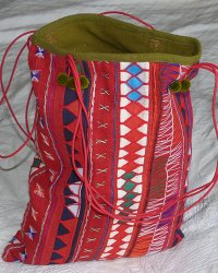 Akha Hill Tribe Bag Red