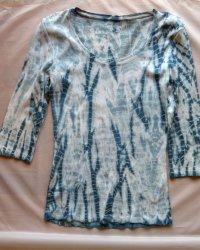 Indigo Dyed Shibori Long Sleeve T-shirt 2