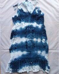 Michael Kors Indigo Dyed Shibori Dress 2