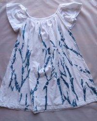 Indigo Dyed Shibori Skirt 4