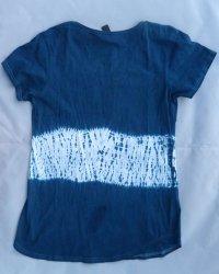 Indigo Dyed Shibori T-Shirt 3