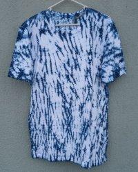 Indigo Dyed Shibori T-Shirt 5