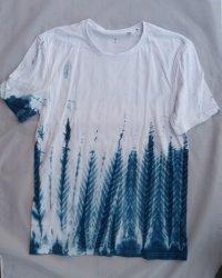 Indigo Dyed Shibori T-Shirt 8