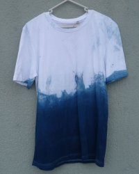 Indigo Dyed Shibori T-Shirt 10