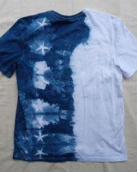 Indigo Dyed Shibori T-Shirt 39