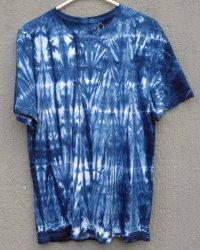 Indigo Dyed Shibori T-Shirt 41