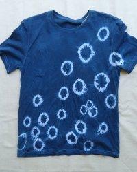 Indigo Dyed Shibori T-Shirt 42