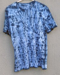 Indigo Dyed Shibori T-Shirt 47