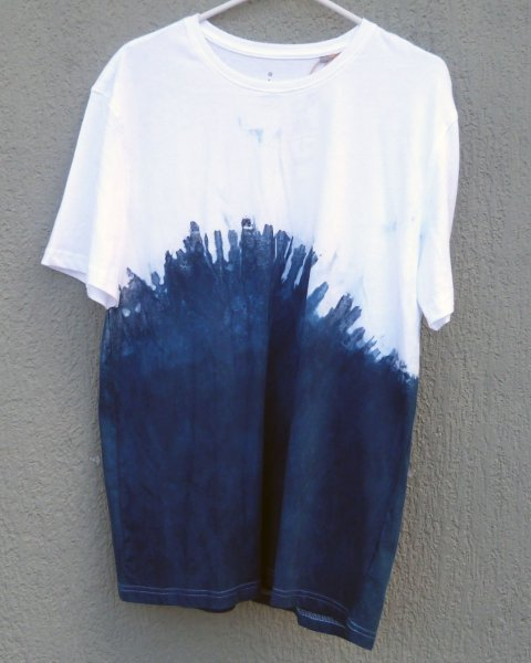 Indigo Dyed Shibori T-Shirt 48