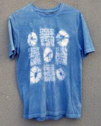 Indigo Dyed Shibori T-Shirt 55