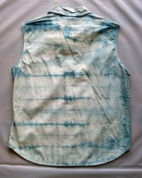 Indigo Dyed Shibori Womens Shirt 2