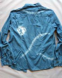 Massimo Dutti Indigo Dyed Shibori Womens Shirt 5